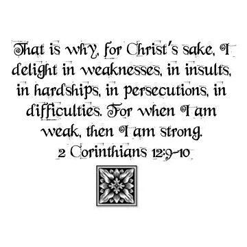 2 Corinthians 12:9-10 by VampicaX