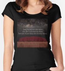 Good friends are like stars Women's Fitted Scoop T-Shirt