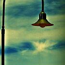 Streetlight at sunset by iamelmana