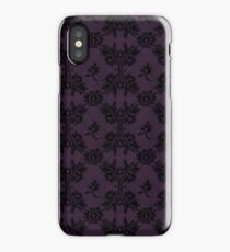 Intense Shadow Purple black lace iPhone Case/Skin
