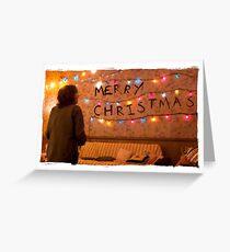 Stranger Christmas Greeting Card