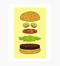 Yes I Cayenne Burger! Art Print