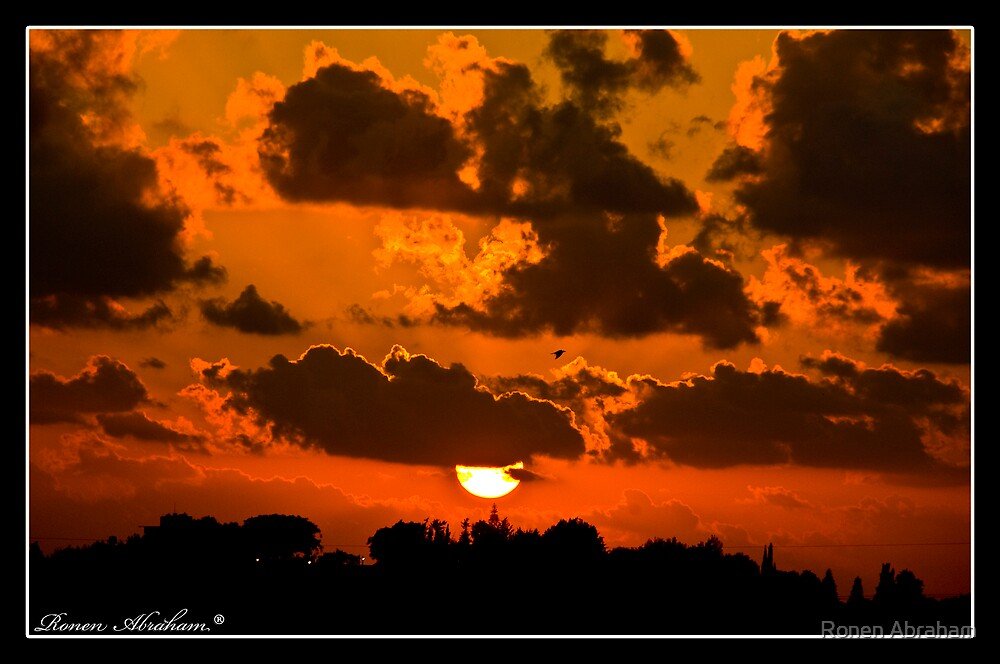 Hot Sunset No.2 by Ronen Abraham