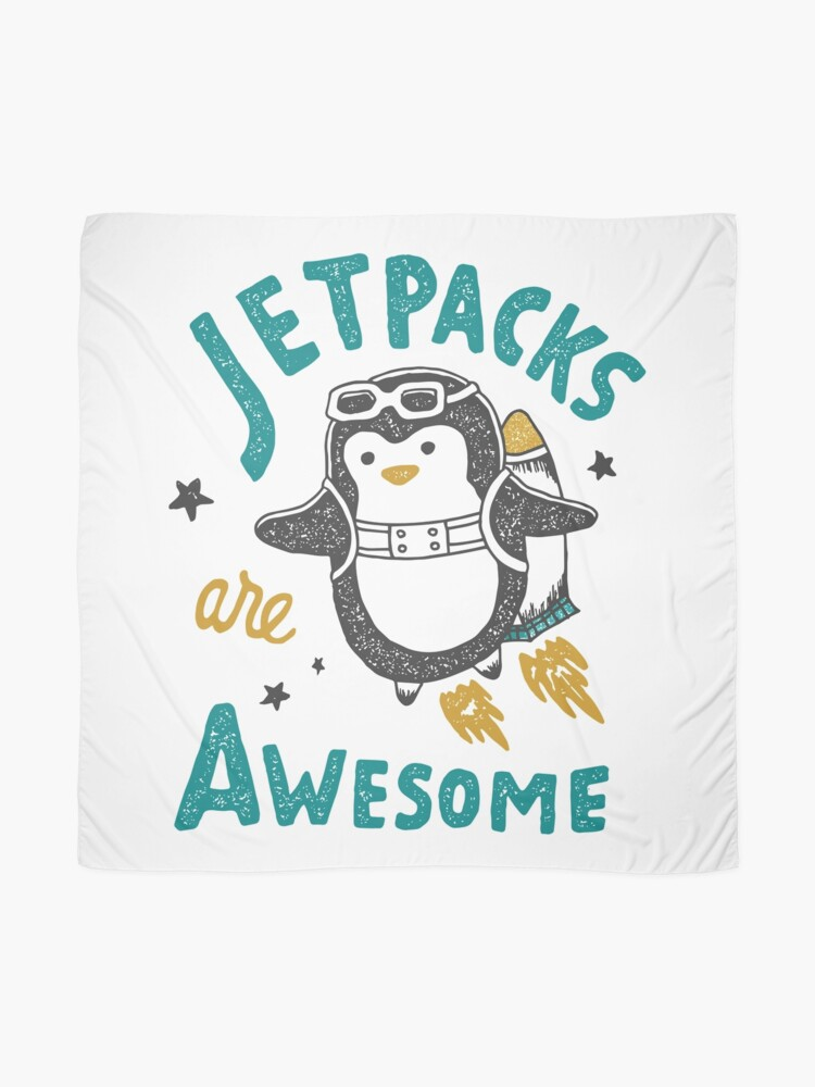Alternate view of Jetpacks are Awesome Scarf