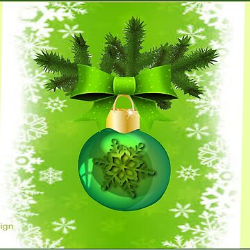 Green Christmas ornament  (4927 Views) by aldona