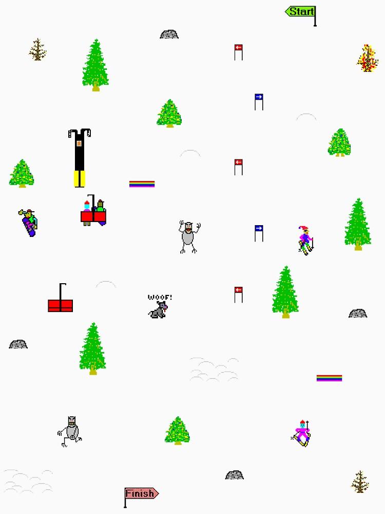 Vintage Ski Spiel von yellow-designs