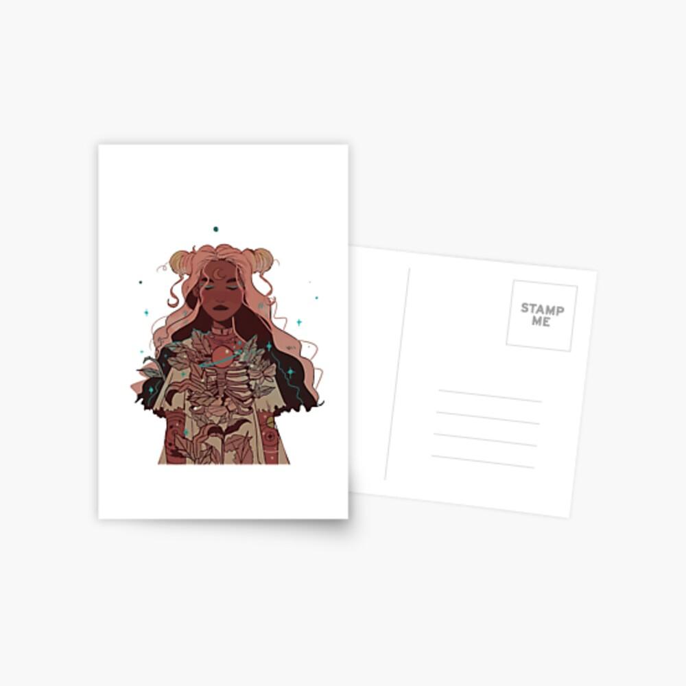 Mondmädchen Postkarte