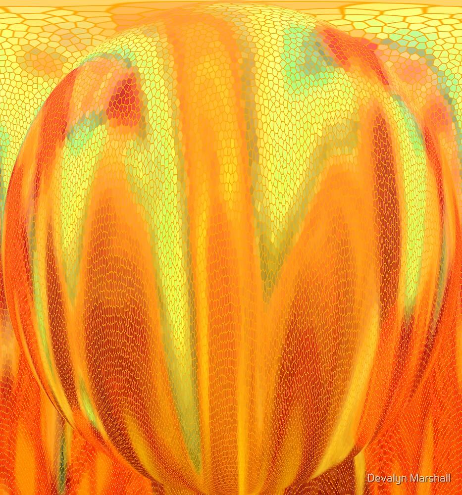 Snake Belly Sphere by Devalyn Marshall