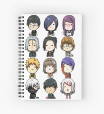 Tokyo Ghoul characters Spiral Notebook