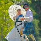 Stylized photo of spectators at the San Diego Scottish Highland Games & Gathering of Clans in Vista, CA US. by NaturaLight
