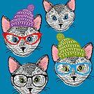 Cat in hat by Ekaterina Panova