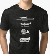 Funny Types Of Trombone Tri-blend T-Shirt