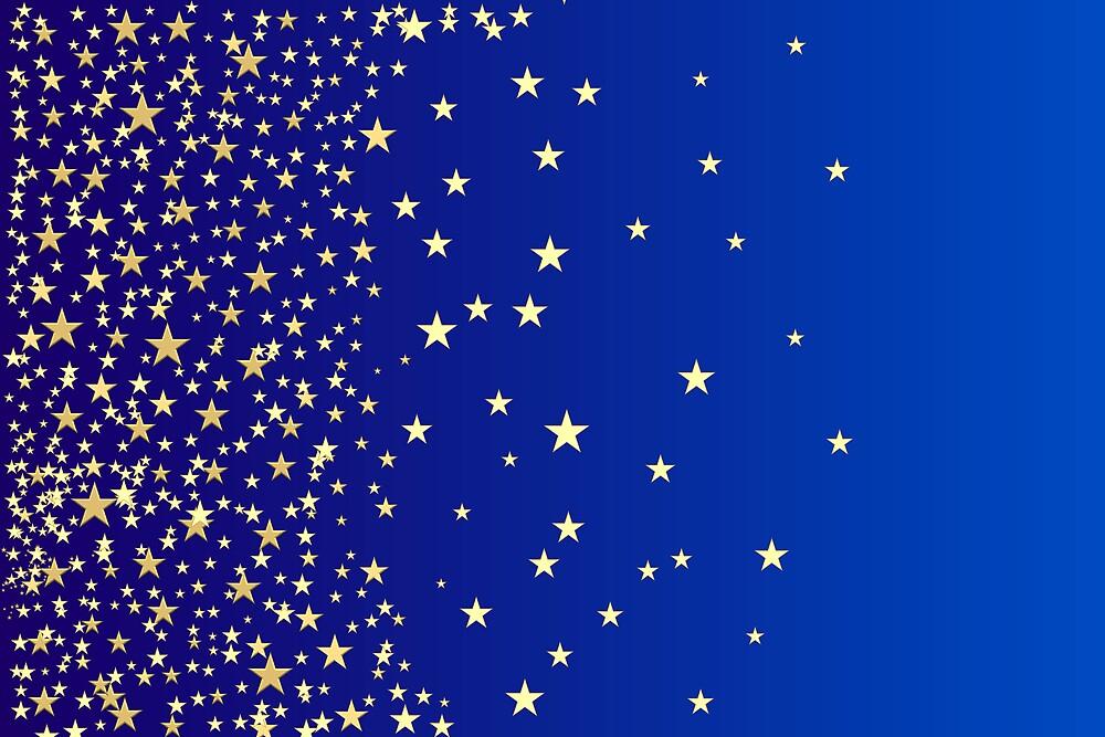 Star Shine Background Blue  by savage1