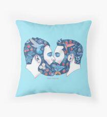 Bärte in der Liebe Throw Pillow