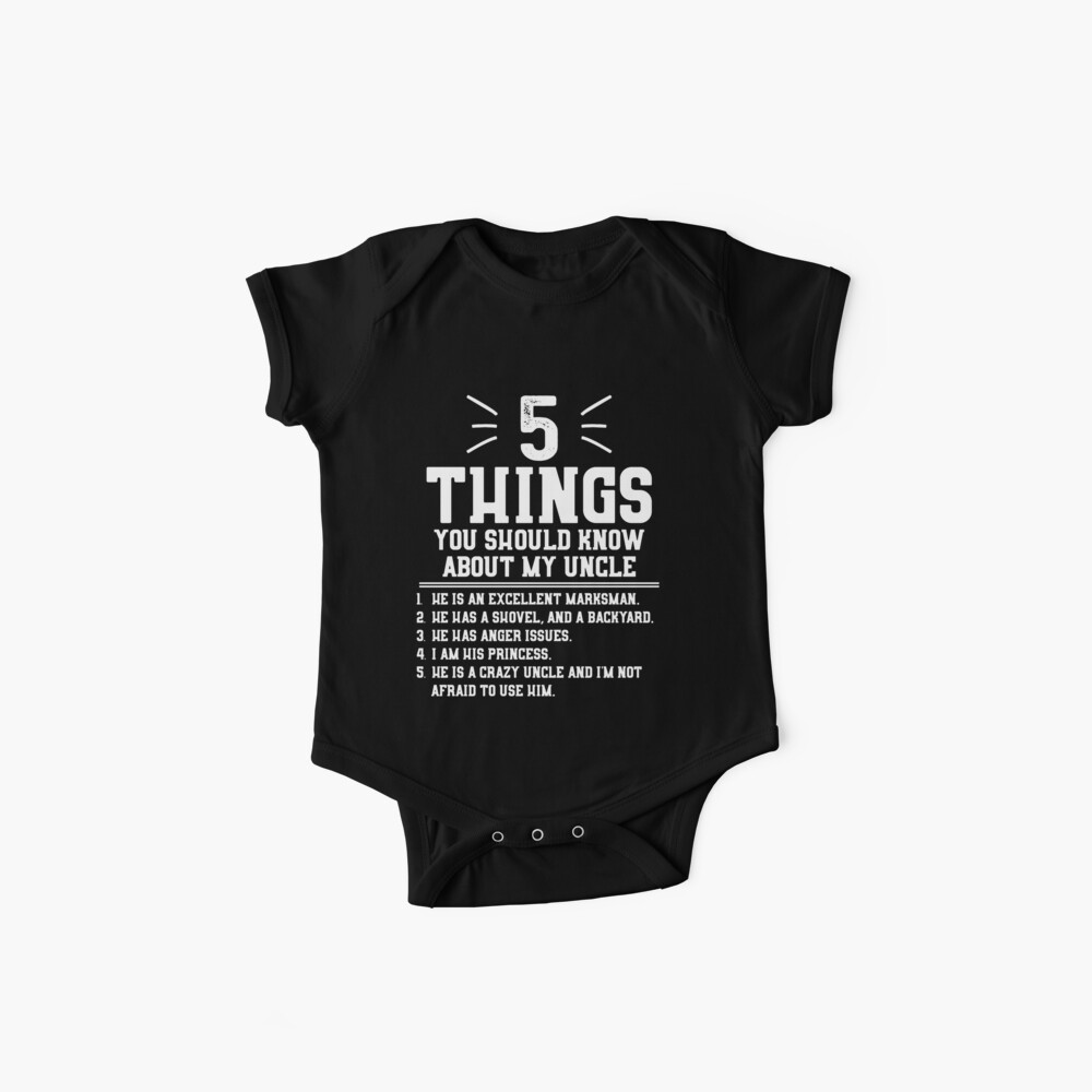 5 cosas que debes saber sobre mi tío Body para bebé