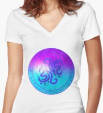 Sigil of water Women's Fitted V-Neck T-Shirt