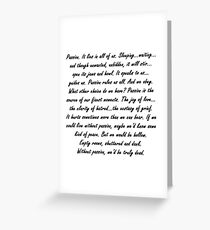 Joss Whedon Passion Quote Greeting Card