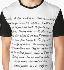 Joss Whedon Passion Quote Graphic T-Shirt