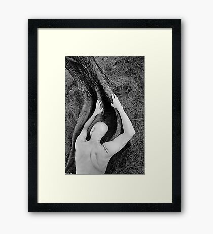 Man and tree Framed Print