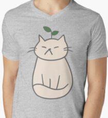 Plant Cat Men's V-Neck T-Shirt