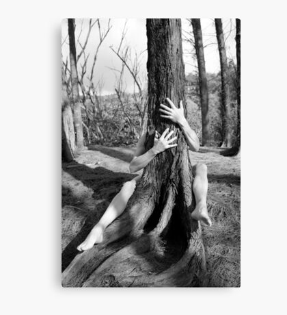 Hands and tree Canvas Print