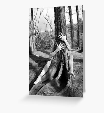 Hands and tree Greeting Card