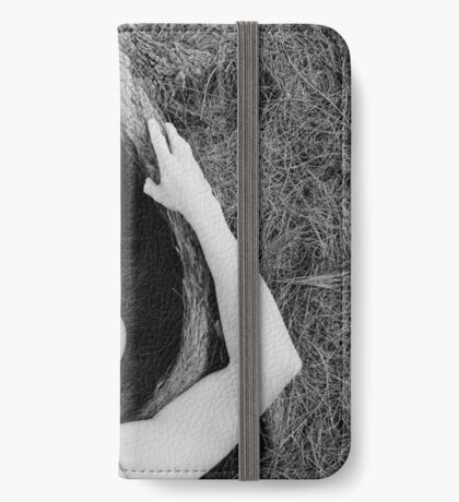 Man and tree iPhone Wallet