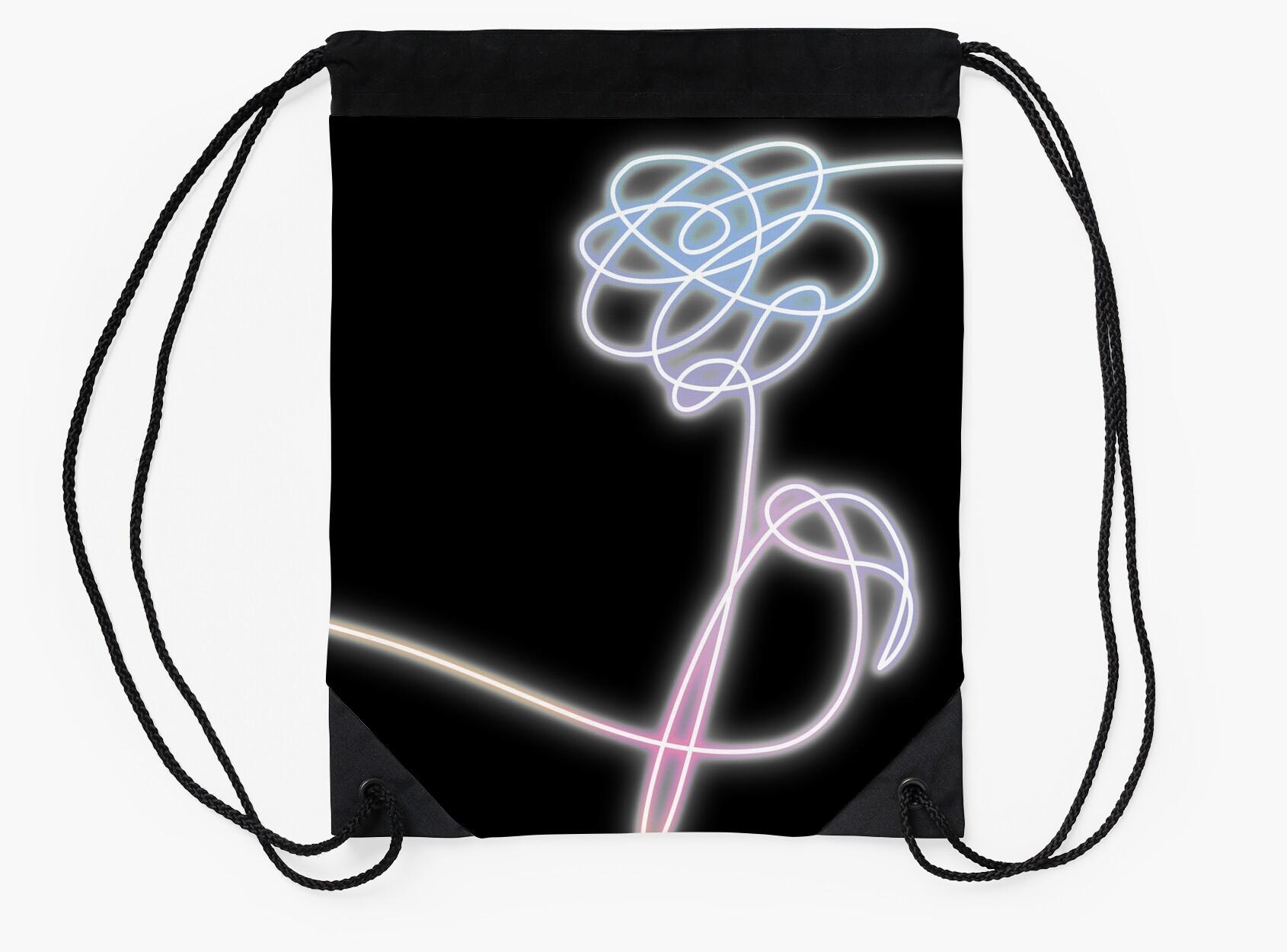 Bts love yourself flower neon drawstring bags by imgoodimdone bts love yourself flower neon buycottarizona