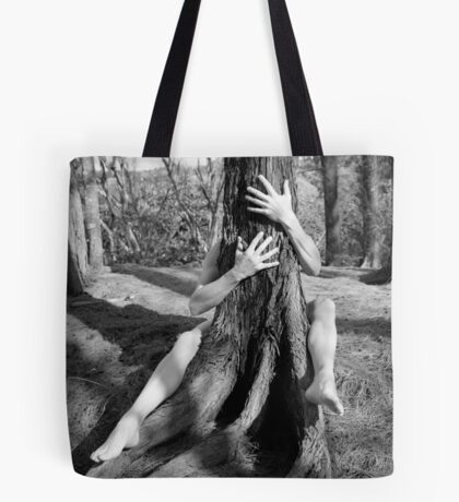 Hands and tree Tote Bag