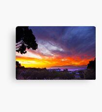 Sunset False Bay Canvas Print