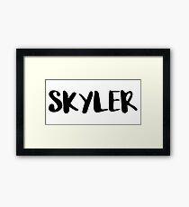 SKYLER Framed Print