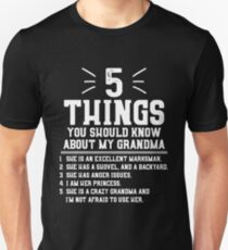 5 Things You Should Know About My Grandma Slim Fit T-Shirt