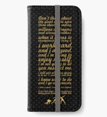 """Don't think about... """"Usain Bolt"""" Life Inspirational Quote iPhone Wallet/Case/Skin"""