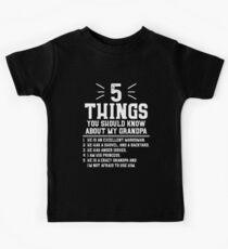 5 Dinge, die du über meinen Großvater wissen solltest Kinder T-Shirt