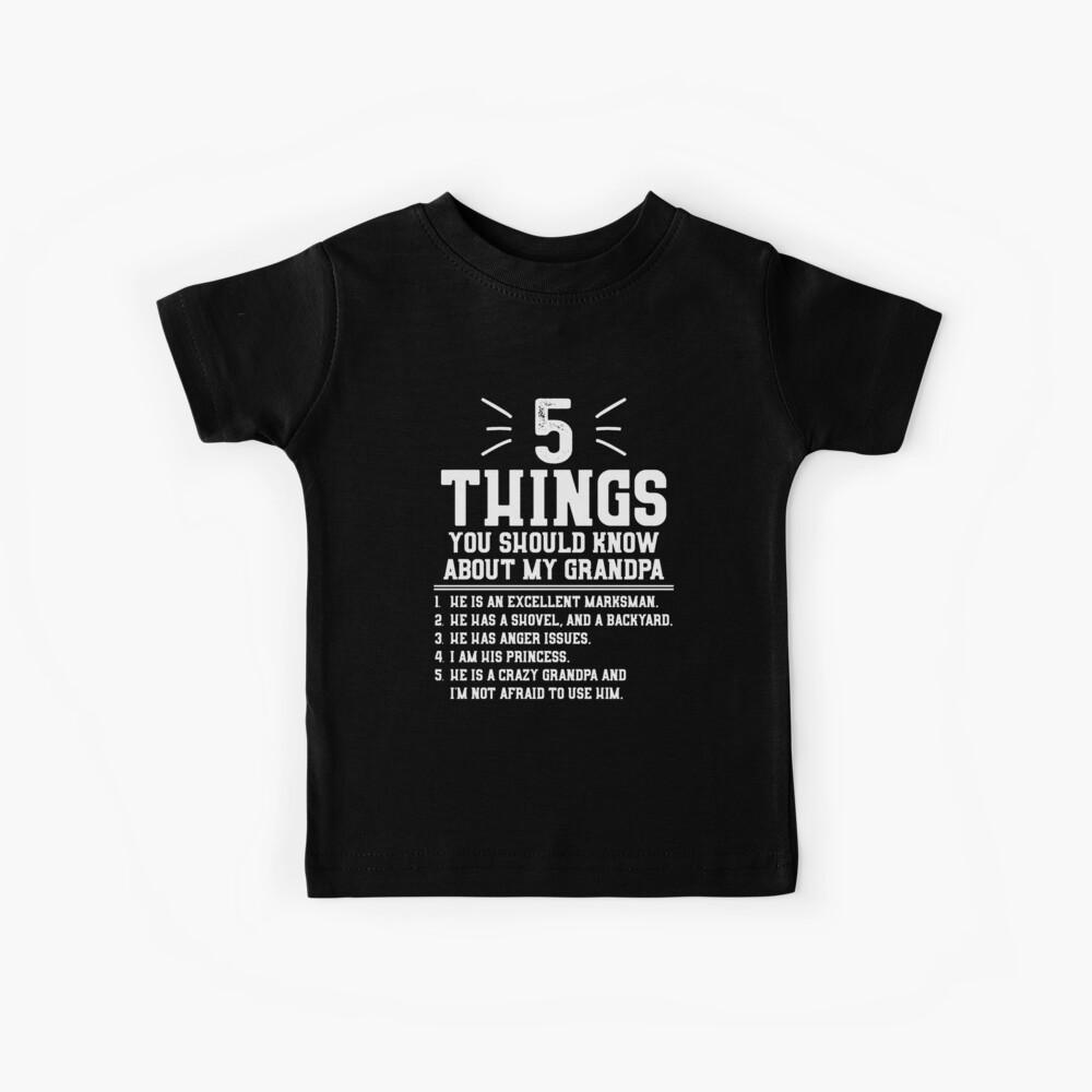5 cosas que debes saber sobre mi abuelo Camiseta para niños