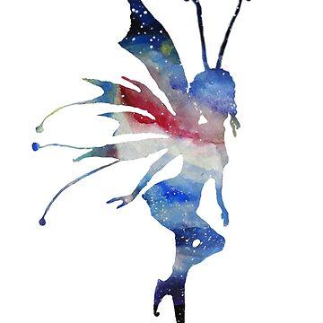 Fairy Watercolor Art  by Manitarka
