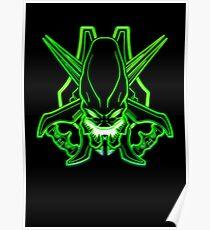 Halo - Legendary Logo (Neon Light Effect Green) Poster