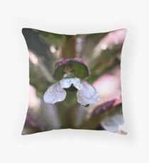 """Flowery """"house"""" for little people Throw Pillow"""