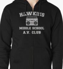 Hawkins Middle School AV Club Stranger Things Zipped Hoodie
