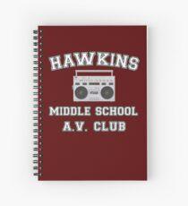 Hawkins Middle School AV Club Stranger Things Spiral Notebook