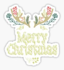 Merry Christmas Tshirt Sticker