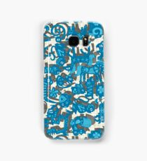 chinese animals blue Samsung Galaxy Case/Skin