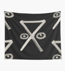 Hobo Sign - 105 - Safe Camp Inverted Wall Tapestry