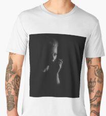 Smoking woman. Men's Premium T-Shirt