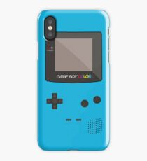 Nintendo Gameboy Color Pocket Classic iPhone Case Cyan iPhone Case/Skin