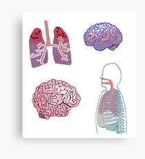 Human Body Graphic Collage Canvas Print