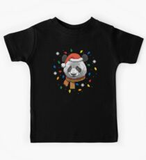 Knitted Christmas Panda (Black) Kids Clothes