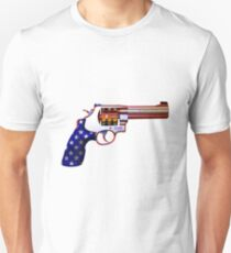 .45ACP, Are You Felling Lucky USA Casino 7'S Slot Gun Unisex T-Shirt