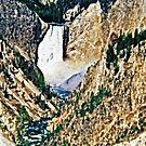 Stylized photo of Yellowstone Falls in Yellowstone National Park. by NaturaLight