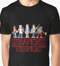 Stranger Things Cartoon Graphic Graphic T-Shirt